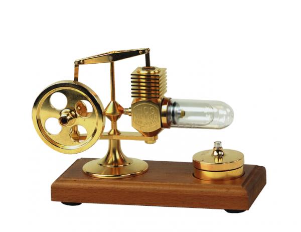 Micro Stirling Motor 24 Kt vergoldet