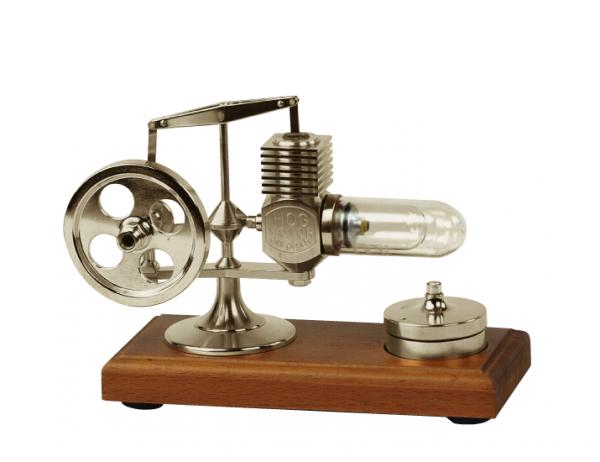 Micro Stirling Motor Altsilber