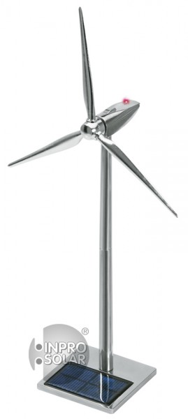 Metall-Windgenerator eckig LED 50 cm